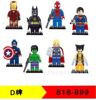 Wholesale Wholesale Boys Figures - Superheroes building blocks assembled toys children educational toys 818-898 Boys girls Toys & Gifts Action Figures hot sell