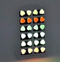 Wholesale Neon Color Stud Earrings - Fashion Glow Ear Stud Earring Neon Color Glow In Dark men women children candy color earrings party club charm jewelry New Xmas Gift