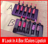 Wholesale Sexy Box - Frost Sexy lipstick HOT NEW M Makeup look in a box be sfnsational mini Lipsticks *5 Frost Matte Lipstick 3g