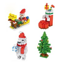 Wholesale Blocks Santa - LOZ Building Blocks Santa Claus Christmas Stockings Christmas tree Polar Bear Figures Model Christmas Toys Gift for Children Anime Bricks