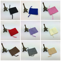 Flax Small Sachet à laitons Fine Workmanship Drawstring Bags Bijoux Candy Snack Jute Stockage Pouch High End 0 8jy B R