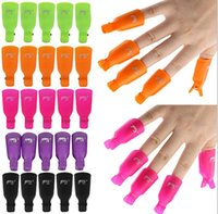 Wholesale Uv Fluid - Fashion Plastic Nail Art Soak Off Cap Clip UV Gel Polish Remover Wrap Tool Fluid for Removal of Varnish Nail Cleaner Remover