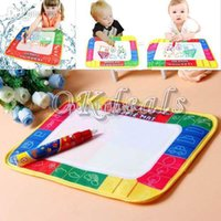 Wholesale Boys Baby Book Years - Wholesale-Hot sale 29 * 19cm water drawing board book writing painting Playmats Children Kids Baby Toys Xmas Gift