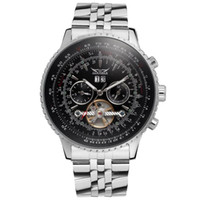 jaragar relógios automáticos mecânicos venda por atacado-Automatic Mechanical Watches luxury men automatic TOURBILLON stainless watch mechanical sport mens watches JARAGAR Watches Wholesale