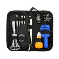 Wholesale Watchmaker Tool Set Kit - Wholesale-13Pcs Portable Watchmaker Pin Remover Adjuster Case Opener Wrist Watch Repair Tool Set Kit 5DGX 5HXF