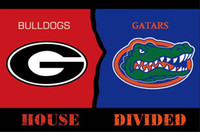 Georgia Bulldogs vs Florida Gators casa divisa bandiera 3ftx5ft Banner 100D bandiera poliestere metallo occhielli stampa digitale