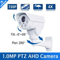 Wholesale Dvr Ptz Camera - 720P 1.0MP Mini PTZ Bullet AHD Camera Outdoor Waterproof 4X Optical Zoom 2.8-12mm Lens IR Range 30M Night vision AHD DVR
