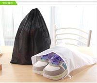 Wholesale Silk Tote Bags Wholesale - 100pcs lot Non-woven Shoe Drawstring Travel Storage Shoe Dust-proof Tote Dust Bag Case 5 colors free shipping WA0689