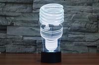 online shopping Led Energy Star - 2017 Lamp Light Energy Saving 3D Night Lamp Optical Night Light 10 LEDs Night Light DC 5V Factory Wholesale