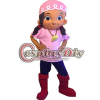 Wholesale Izzy Pirate Costume - Wholesale-Fancy The Neverland Pirate Izzy Mascot Cartoon Pirate Mascot Costume Custom Made