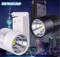 Wholesale Taiwan Light Bulbs - 30W Warm Cold White COB LED Track Light Bulb Taiwan Epistar chip spot light 85-265 Volt LED Wall Track Lighting