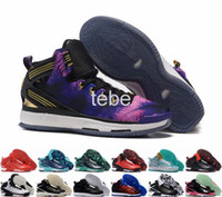Wholesale Leather Hot Tops - New D Rose 6 Boost Basketball Shoes Men Boosts Hot Sale Derrick Rose Shoes 6 VI 2016 Florist City Christmas Black Top Quality Sports Sneaker