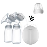 Wholesale Dual Electric Breast Pump - Hands Free Double Electric Breast Pump Dual Breast Pump Automatic Massage Postpartum Prolactin(With nipples)