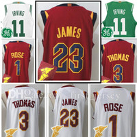 Wholesale High Rise - Men's #1 Derrick Rose 23 LeBron 3 Isiah Thomas jersey New 17-18 High quality stitched jerseys Top sales Free Shipping