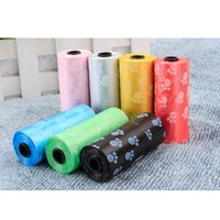 Wholesale Dog Pet Poop Bags - Cute Pet Garbage Bag Dog Foot Painted Dog Garbage Bag Clean-up Bag Pick Up Waste Poop Bag Refills Convenient Dog Poop Bag