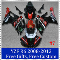 Wholesale Yamaha Race Fairings - Fairing set for YAMAHA Yzf r6 2008 Racing bike Fairing Kit 2008 2009 2010 2011 2012 YZF R6 Complete fairings free customs