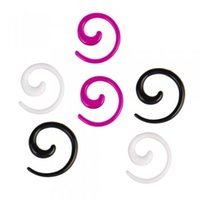 Wholesale Pc Expander - Free Shipping 50 pcs Acrylic Spiral Ear Taper Expander Stretcher Plug 2mm Body Jewelry Ear Tunnels #35142