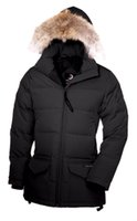 Wholesale Coat Paint Black - 2017 Canada new Arrival women's Down parka Solaris Black Navy Gray jacket Winter Coat Parka Fur Sale With Free Shipping Outlet Copy 1by1