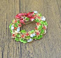 Fashion Gold Plated Rhinestone Crystal Leaf Flower Bow Bowknot Wreath Brooch Pin Xmas Christmas Gift Lots 10 Pcs
