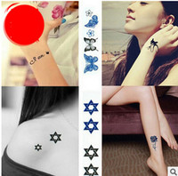 Wholesale Sticker Korean - high quality Korean beauty personalized simulation tattoo stickers waterproof cover marks unisex tattoo stickers alphabet stickers Crown