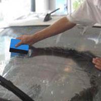 ferramentas vinil carro venda por atacado-Ferramentas de embrulhar em película de vinil carro 3 m rodo com feltro papel de parede macio raspador protetor de tela móvel instalar ferramenta rodo