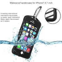 2016 Spider Case Waterproof Shockproof Dirt Snow Proof Capa de capa exterior resistente para Apple Iphone 7 4.7 5.5 polegadas