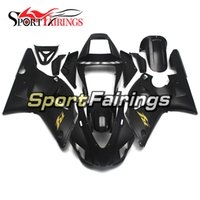 Wholesale Yamaha R1 1998 Gold - Complete Injection Fairings For Yamaha YZF R1 Year 98 99 1998 1999 ABS Plastic Motorcycle Black Matte with Gold Decals Fairing Kit
