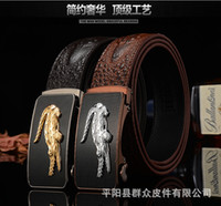Wholesale Flag Business - 2016 Luxury Cheetah crocodile Fashion belt H88 Genuine Leather belts Waist Strap Belts Automatic Buckle Black leisure business leather belts