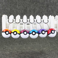 Wholesale Wholesale Kids Collectables - 4.5cm 6 Style Poke ball keychain PVC Action Figure Collectable Model Toy for kids gift free shipping retail
