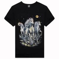 Wholesale Clothes Horse Dryer - New 2016 3d Printed T Shirt Horse Black Cotton Famous Brand T Shirt Men Brand Famous Causul Men'S Wear Men Clothing