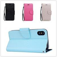 подставка для магнита оптовых-Для iPhone 8 7 случаев флип бумажник кожаный чехол личи Магнит стенд Карты деньги чехол для Samsung Примечание 8 S8 плюс 9 цветов