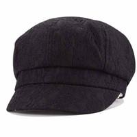 Wholesale Ladies Newsboy Hat Black - Wholesale-Fashion New Popular Women Lady High Quality Lace Grace Causal Autumn Winter Octagonal Beret Cap Warm Artist Painter Newsboy Hats