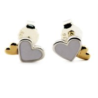 78770e1eb Luminous Heart Mother-of-Pearl & 14K Golden 2016 Summer 100% 925 Sterling  Silver earring Fit Pandora Charms earring Authentic Fine Jewelry