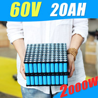 Wholesale 6v Rechargeable Pack - Lithium Rechargeable Battery 60V 20Ah Electric Bike Battery 60V For 2000W Motor With 6A Charger 60A BMS Powerfull battery pack