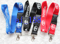 Wholesale car key holders for toyota - Wholesale 30PCS TOYOTA CAR Logo neck lanyard phone key chain for collection ID holders Free shipping 3 colours