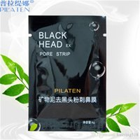 Wholesale Nose Pore Suction - PILATEN Suction Black Mask Face Care Mask Cleaning Tearing Style Pore Strip Deep Cleansing Nose Acne Blackhead Facial Mask Remove Black Head