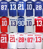 Wholesale Giants Rugby - New York Giant#10 Eli Manning 13 Odell Beckham Jr. 56 Lawrence Taylor American College Football Stitched Elite Mens Sports Team Jerseys