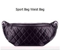 Wholesale Cowhide Stones - 94102 Sheepskin Top Quality Chain Bag Flap Bag Sport Bag Waist Bag 31cm