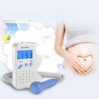 Wholesale Baby Doppler - New Arrival Fetal Doppler LCD Screen Blue Back Light Baby Heart Rate Detection Device With Charger