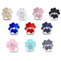 Wholesale Clover Iphone - Universal 360 Degree Four Leaf Clover Finger Ring Holder Phone Stand For iPhone 7 6s Samsung Huawei Mobile Phones