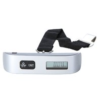 Wholesale Digital Lcd Luggage Weight Scale - Portable LCD Display Weight Scales Electronic Hanging Digital Lage Weighting Scale 50kg*10g 50kg  110lb H9384