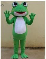 trajes do epe venda por atacado-2016 de Alta qualidade Por Atacado-Profissional sapo verde mascote Fancy Dress Costume Tamanho Adulto traje EPE traje da mascote
