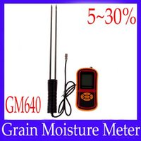 Wholesale Paddy Rice - Wholesale-Digital grain moisture meter GM640 for seed paddy corn rice soybean MOQ=1 free shipping