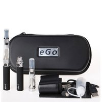 Double eGo CE4 Starter Kit E-Cigarette 650 900 1100mAh eGo t bateria 1.6ml CE4 Set Zipper Case Kit ego-t ce4 Double Kit