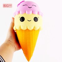 22CM Sorvete Squishy Big Squeeze Squishy Slow Rising Jumbo Celular Corrente Chave Strap Pendant Roll Squishes PU Cute Toys