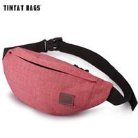 Wholesale Cute Waist Bag - Wholesale- TINYAT Women Female Casual Functional Fanny Bag Waist Bag Money Phone Belt Bag Cute Purse T201 Red  Orange Available