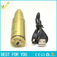 Wholesale Bullet Shape Usb - Electronic Cigarette Lighters Rechargeable USB Lighters Flameless Windproof lighter Bullet shape lighter torch jet lighter