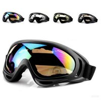 Wholesale Wholesale Atv Goggles - Wholesale Cool Motocross ATV Dirt Bike Off Road Racing Goggles Motorcycle glasses Surfing Airsoft Paintball 3pcs lot