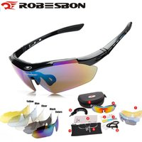Wholesale Eye Vision Lens - ROBESBON buy one get 5pcs lenses Flip Sunglasses Sports Soccer Night Vision Glass Basketball Biking MTB Road UV400 Myopia Strap