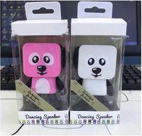 Wholesale Electronics Dance - Dancing Dog Bluetooth Speakers Portable Mini Electronic Robot Stereo Speakers Electronic Walking Toys With Music Wireless Speaker Toy i7 tws